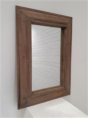 Sale 9071 - Lot 1036 - Rustic Timber Framed Mirror (95 x 67cm)
