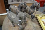 Sale 8013 - Lot 1262 - Set Of Three Timber Horse Figures (JF-10)