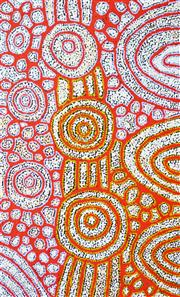 Sale 8113A - Lot 61 - Katherine Marshall Nakamarra (1968 - ) - My Mother's Country 95 x 60cm
