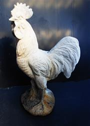 Sale 8256A - Lot 66 - A French composition stone figure of a rooster. Overall size: 63 x 37cm