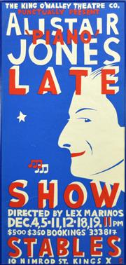 Sale 8256S - Lot 31 - Martin Sharp (1942 - 2013) - Alistair Jones - Piano (Late Show, Kinselas) 101 x 48cm