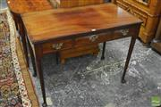 Sale 8335 - Lot 1029 - Georgian Style Mahogany Side Table, with three drawers & club legs