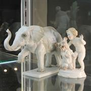 Sale 8369 - Lot 1 - Rosenthal Elephant & Another (2)