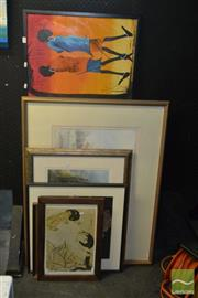 Sale 8522 - Lot 2056 - 6 Artworks incl. J. Brunton Watercolour, Prints, etc
