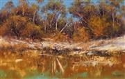Sale 8633A - Lot 5098 - Alex Andrews (1947 - ) - Murry River Landscape 37.5 x 59.5cm