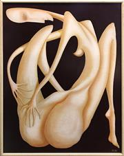 Sale 8674 - Lot 2020 - Artist Unknown - Nude, 1986, oil on board, 104 x 83.5cm, signed M.C lower right
