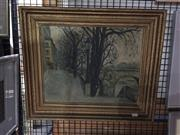 Sale 8771 - Lot 2063 - J Defosse - Paris, 1949 oil on canvas board, 45 x 43cm (frame) signed -