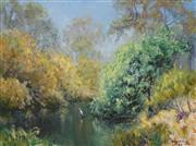 Sale 8838A - Lot 5011 - John Downton (1939 - ) - Refuge - Goulburn River, Victoria, 1982 29 x 39.5cm