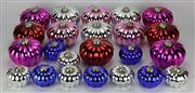Sale 8139 - Lot 28 - Fine Glass Large Melon Shaped Christmas Decoration Setting