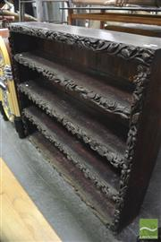 Sale 8337 - Lot 1042 - Jacobean-Style Oak Open Bookcase (Possibly Australian)