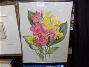 Sale 8429A - Lot 2035 - Mary Marshall - Still Life, watercolour, 63 x 50cm, signed lower right