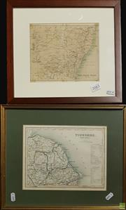 Sale 8604 - Lot 2083 - (2 works) John Bartholomew  & Co. New South Wales (from Philips Series of Travelling Maps, 1870, engraving (AF), 17 x 20cm; J Arc...