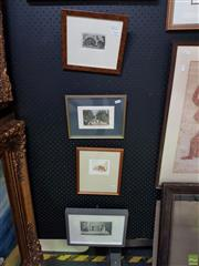 Sale 8619 - Lot 2027 - Collection of (4) Framed Prints including (2) Antique Engravings, various sizes