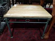 Sale 8904 - Lot 1013 - Pair of Stone Top Side Tables
