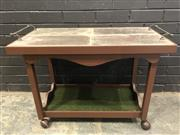 Sale 9006 - Lot 1093 - Vintage Tile Top Trolley (H:63 x W:84 x D:44cm)
