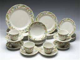 Sale 9093 - Lot 46 - Royal Doulton Sudbury Dinner Wares for Six
