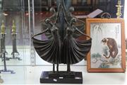 Sale 7953 - Lot 14 - Bronze Dolly Sisters on Black Marble Base