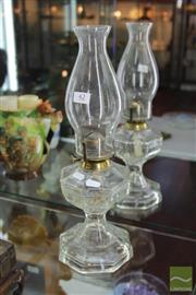 Sale 8217 - Lot 42 - Glass Kerosene Lantern