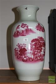 Sale 8226 - Lot 86 - Iron Red Landscape Vase