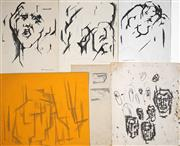 Sale 8424A - Lot 5081 - Bill Coleman (1922 - 1993) (6 works) - Ink/Pencil Drawings various sizes (largest: 30.5 x 25.5cm)