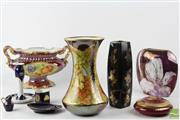 Sale 8540 - Lot 169 - Limoges Ceramic Vase Together with Hand Painted German Example and Others