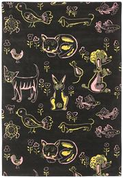 Sale 8563A - Lot 32 - The Florence Broadhurst Collection Design; Animals, Tufted Made in; Nepal Colour; Pink Made from; Tibetan Wool Size; 165 x...
