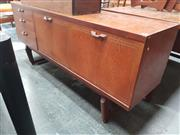 Sale 8839 - Lot 1034 - Vintage Teak Sideboard with Central Fall-Front Bar Section