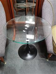 Sale 8782 - Lot 1074 - Eames Glass Top Wine Table