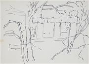 Sale 8908A - Lot 5057 - Desiderius Orban (1884 - 1986) - Untitled (Ruins through the Trees) 25 x 36.5 cm