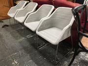 Sale 8889 - Lot 1418 - Set Of Four Cane Tub Chairs