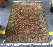 Sale 8893 - Lot 1039 - Persian Green and Red Tone Carpet (187 x 126cm)