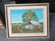 Sale 8910 - Lot 2053 - G Murdock - On the Farm, oil on canvas on board, 43 x 52 cm, signed lower right