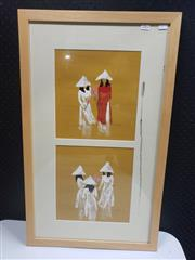 Sale 8958 - Lot 2066 - Contemporary Vietnamese School Tulipsacrylic on paper, 78.5 x 47 cm( frame), intialled lower right