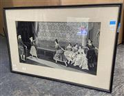 Sale 9077 - Lot 2088 - A C19th Needlepoint depicting Fencing School -
