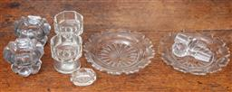 Sale 9120H - Lot 72 - A quantity of early glass table wares including salts and dishes.