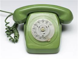 Sale 9144 - Lot 187 - A vintage green dial telephone