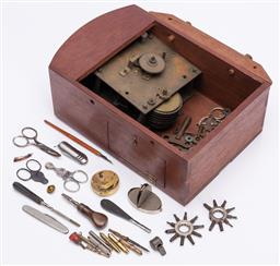Sale 9185E - Lot 192 - A collection of watch parts, watch keys, pocket watch keys and others