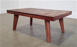Sale 9218 - Lot 1058 - Timber coffee table (h44 x w115 x d68cm0