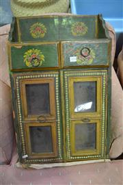 Sale 8013 - Lot 1276 - Small Decorative Green Painted Cabinet