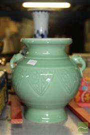 Sale 8226 - Lot 54 - Celadon Glaze Vase