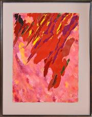 Sale 8374 - Lot 524 - Ron Robertson-Swann (1941 - ) - Bonfire, 1991 79 x 58cm