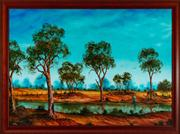Sale 8818A - Lot 61 - BCobbyDRI Outback CourtiersDR oil on boardR 85 x 120cmR SLL