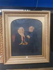 Sale 8833 - Lot 2004 - Artist Unknown (C19th) - Portrait of Elderly Gent and Woman 59.5 x 49.5cm