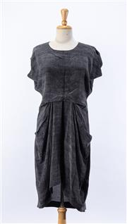 Sale 8891F - Lot 56 - An All Saints snakeskin printed-silk loose midi-length dress with pockets, size 10