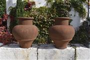 Sale 8972H - Lot 64 - A Fine pair of GRC urns, Height 1m x Diameter 80cm