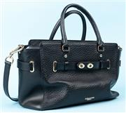 Sale 9083F - Lot 13 - A COACH BLAKE BLACK BUBBLE LEATHER BAG; features bubble grain front and back panels, missing toggle, damaged double handle trim, tag...