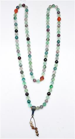 Sale 9164 - Lot 181 - A Greenstone Chinese Necklace