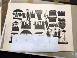 Sale 9172 - Lot 2074 - Group of (5) woodcuts by Amaro Francisco Borges (unframed) -