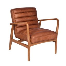 Sale 9180F - Lot 24 - A pair of  classic Mid Century Design Armchairs. Featuring premium top grain Toffee leather, with a hard wood finished in Cinnamon s...
