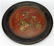 Sale 8153 - Lot 39 - Chinese Signed Lacquer Tray